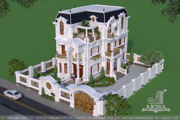 Mẫu biệt thự 3 tầng kiểu Pháp 11x17m đẹp ấn tượng (CĐT: bà Tuyết - Ninh Bình) BT32288