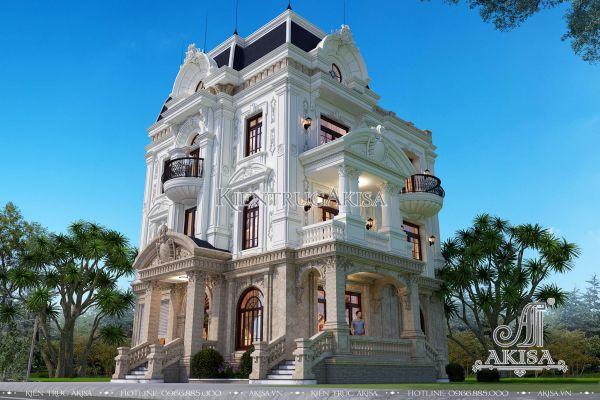 Mẫu biệt thự 4 tầng phong cách tân cổ điển Pháp đẹp đẳng cấp BT42263