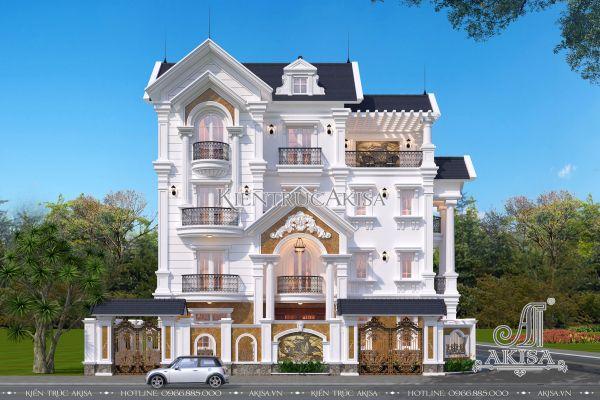 Mãn nhãn với mẫu biệt thự tân cổ điển 4 tầng mái thái (CĐT: ông Hải - Hồ Chí Minh) BT42278