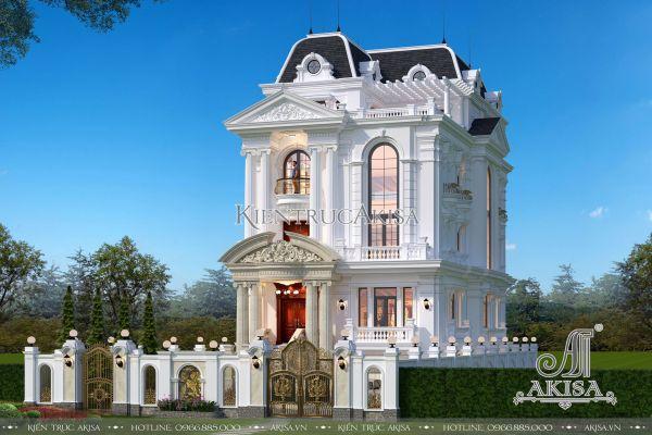 Thiết kế biệt thự dinh thự tân cổ điển Pháp 5 tầng (ông Tuân - Lạng Sơn) BT52259