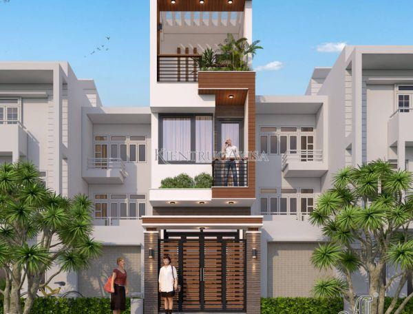 Mẫu nhà mặt phố hiện đại 3 tầng đẹp (CĐT: ông Mỹ - Hồ Chí Minh) KT31306