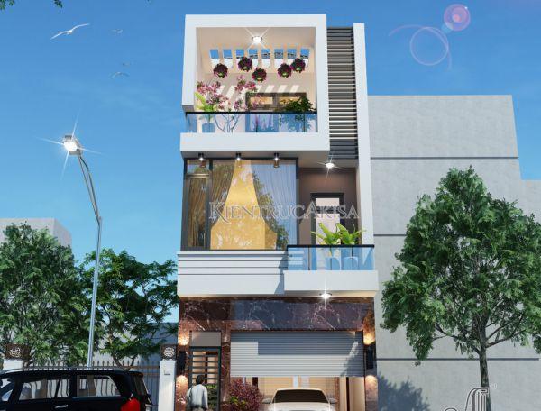Nhà phố 4 tầng hiện đại mặt tiền 5m đẹp sang trọng (CĐT: ông Can - Vĩnh Phúc) KT41043
