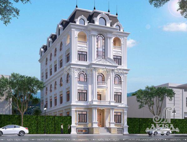 Thiết kế nhà ở kết hợp văn phòng kiến trúc Pháp (CĐT: ông Hiếu - Phú Thọ) KT62298