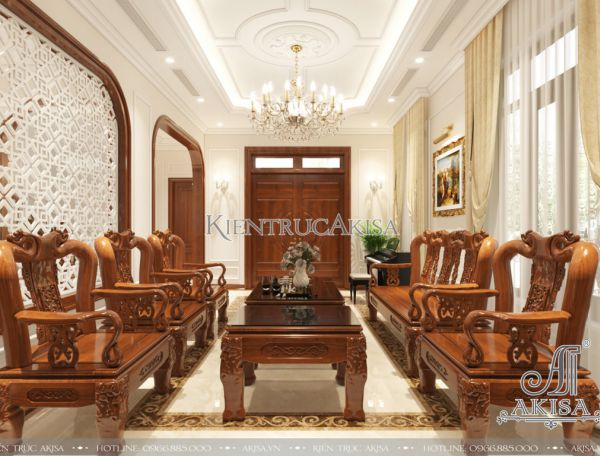 Thiết kế nội thất biệt thự phong cách tân cổ điển (CĐT: ông Duy - Sài Gòn) NT22256