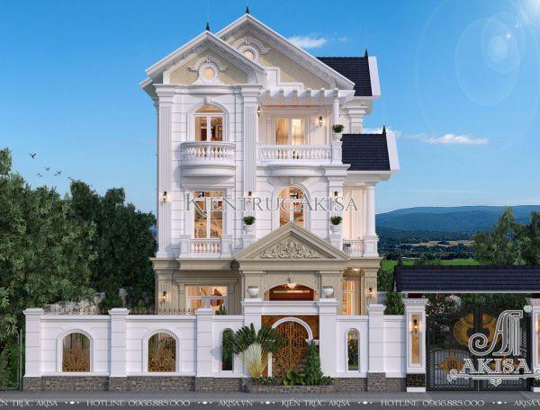 Mẫu biệt thự 3 tầng tân cổ điển đẹp (CĐT: ông Quyền - Bắc Giang) BT32234