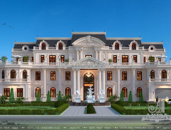 Thiết kế dinh thự 3 tầng tân cổ điển đẹp (ông Nam – Thanh Hóa) BT32198