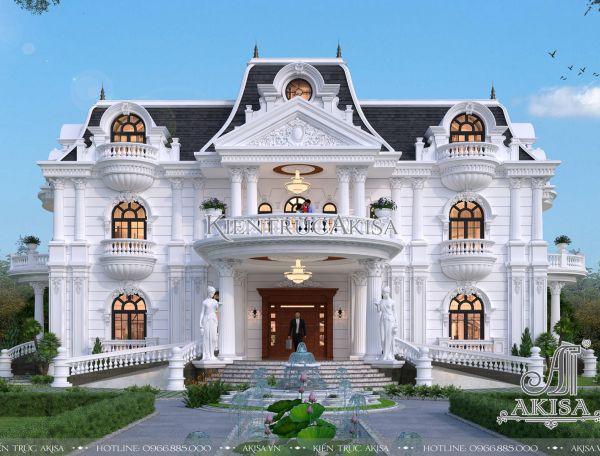 Thiết kế biệt thự 2 tầng kiểu Pháp đẹp đẳng cấp tại Akisa
