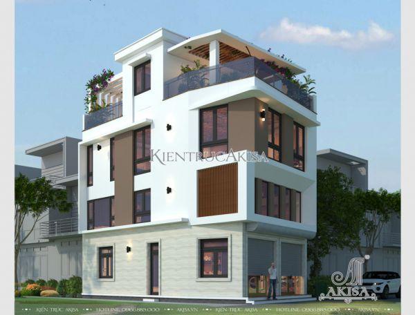 Akisa thiết kế nhà phố 4 tầng hiện đại đẹp (CĐT: ông Thắng - Hà Nội) KT41034
