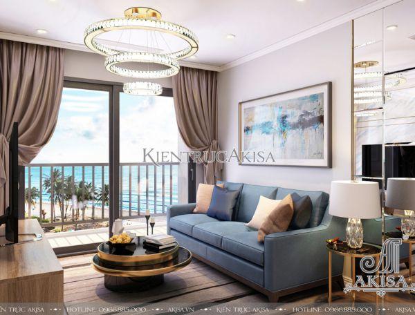 Mẫu nội thất căn hộ hiện đại 2 phòng ngủ (CĐT: bà Nga - Hà Nội)  NT21019